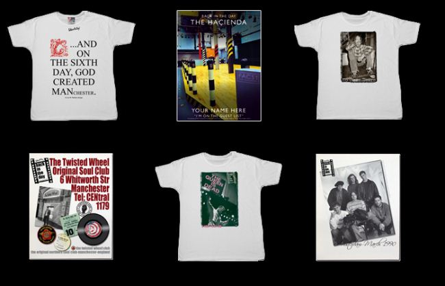 A selection of our t-shirts and canvas prints
